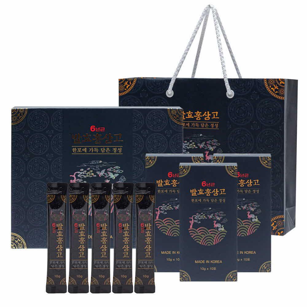 [금산인삼]6년근 발효홍삼고/1개월분/쇼핑백포함