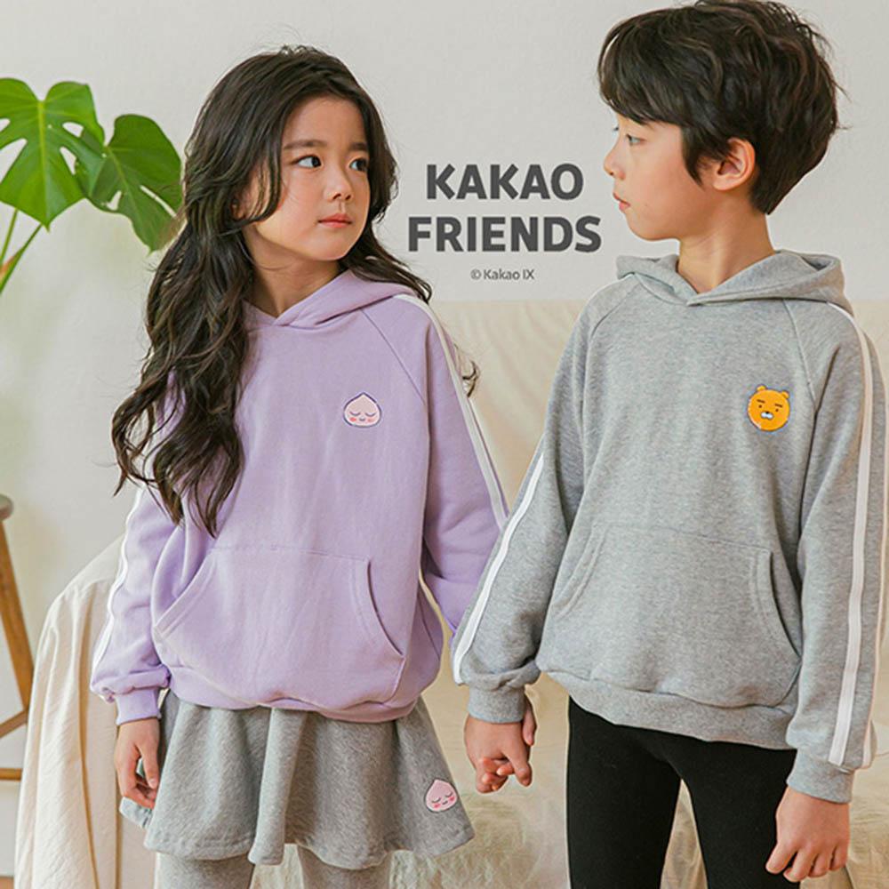 카카오프렌즈 키즈공용 후드나그랑 티셔츠 렛츠 드로잉_KKF-0903