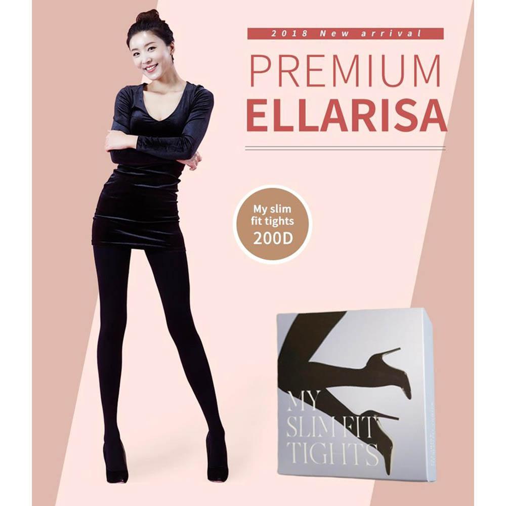 엘라리사 압박스타킹/승무원스타킹 200 D_블랙_프리 3P