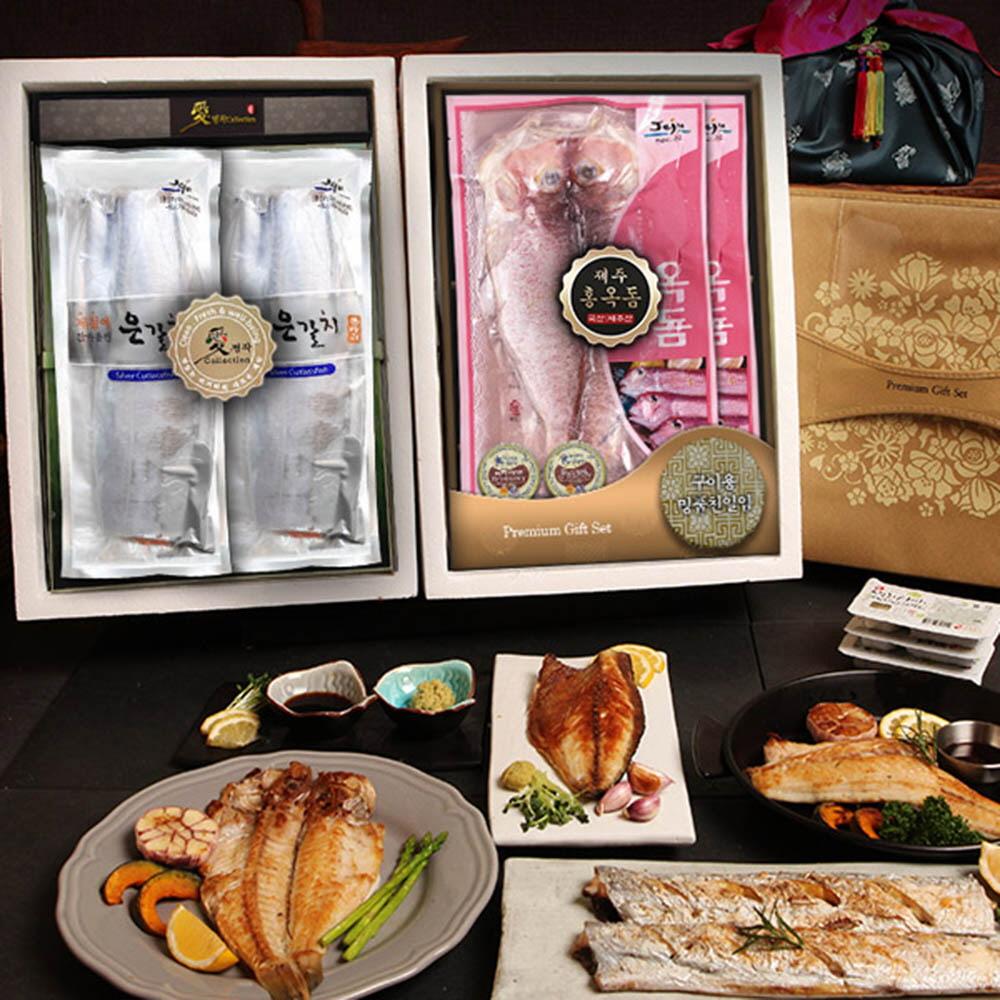 자연두레 제주大魚 프리미엄 은갈치 & 홍옥돔 한정특호 (2단구성)