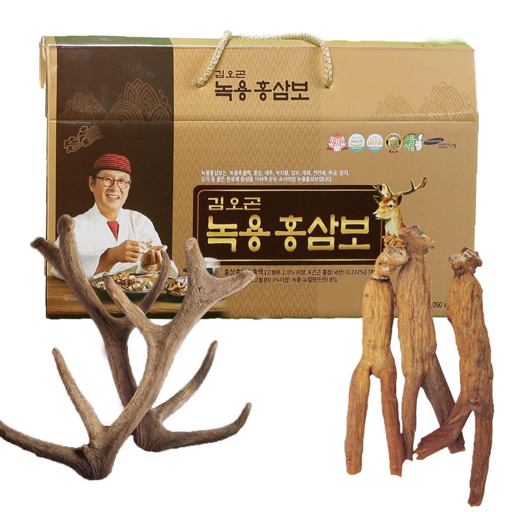 김오곤 녹용홍삼보 3개월(30포*3박스)/침향단10환 사은품증정