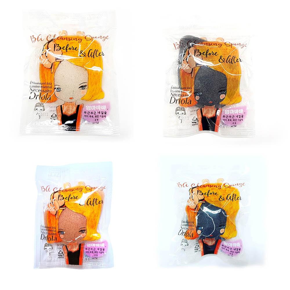 엄마바바 바 클렌징 곤약 물방울형 30g (순수,물방울형 숯,핑크클레이,반구형 숯 택 1)