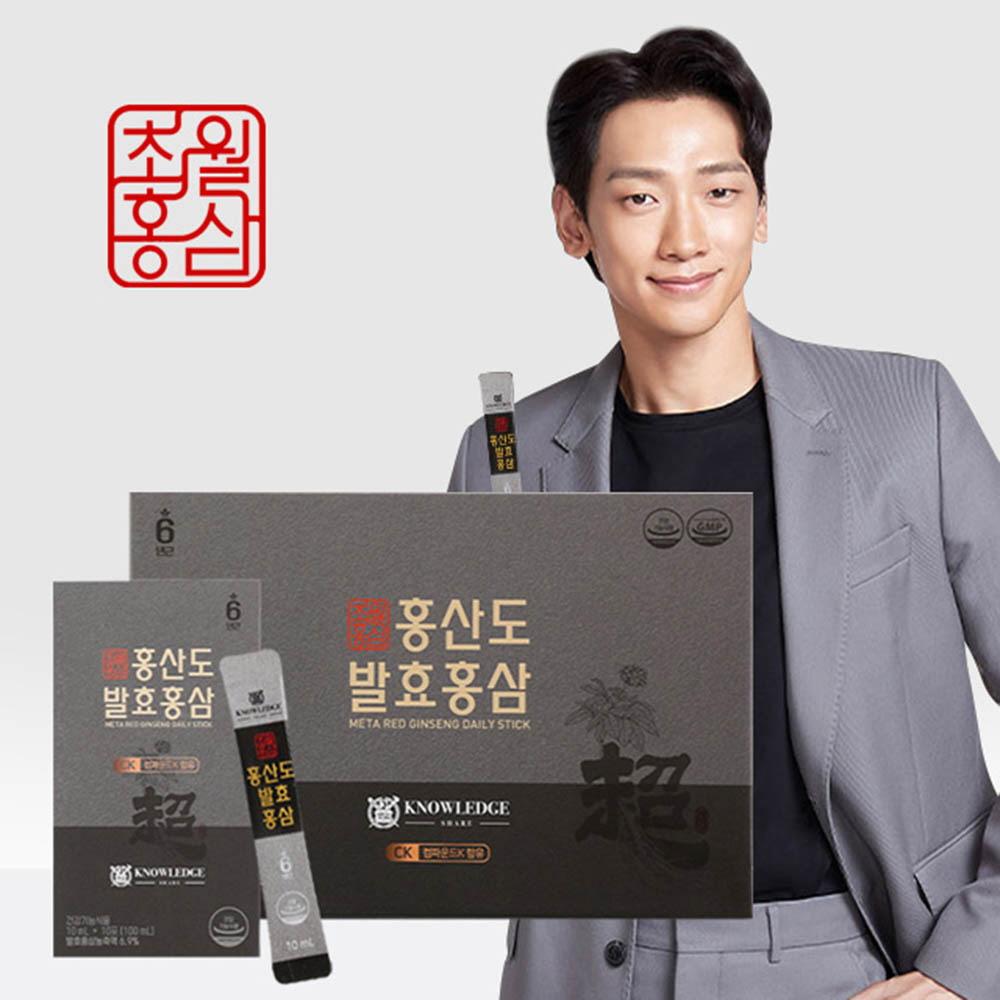 초월홍삼 홍산도 발효홍삼 10ml x 10EA x 3박스(선물용포장)