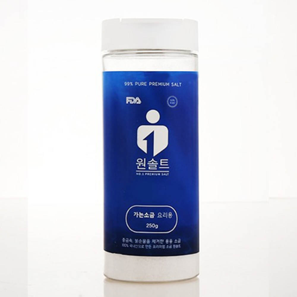 명품소금 원솔트 조리용식염 가는소금 250g