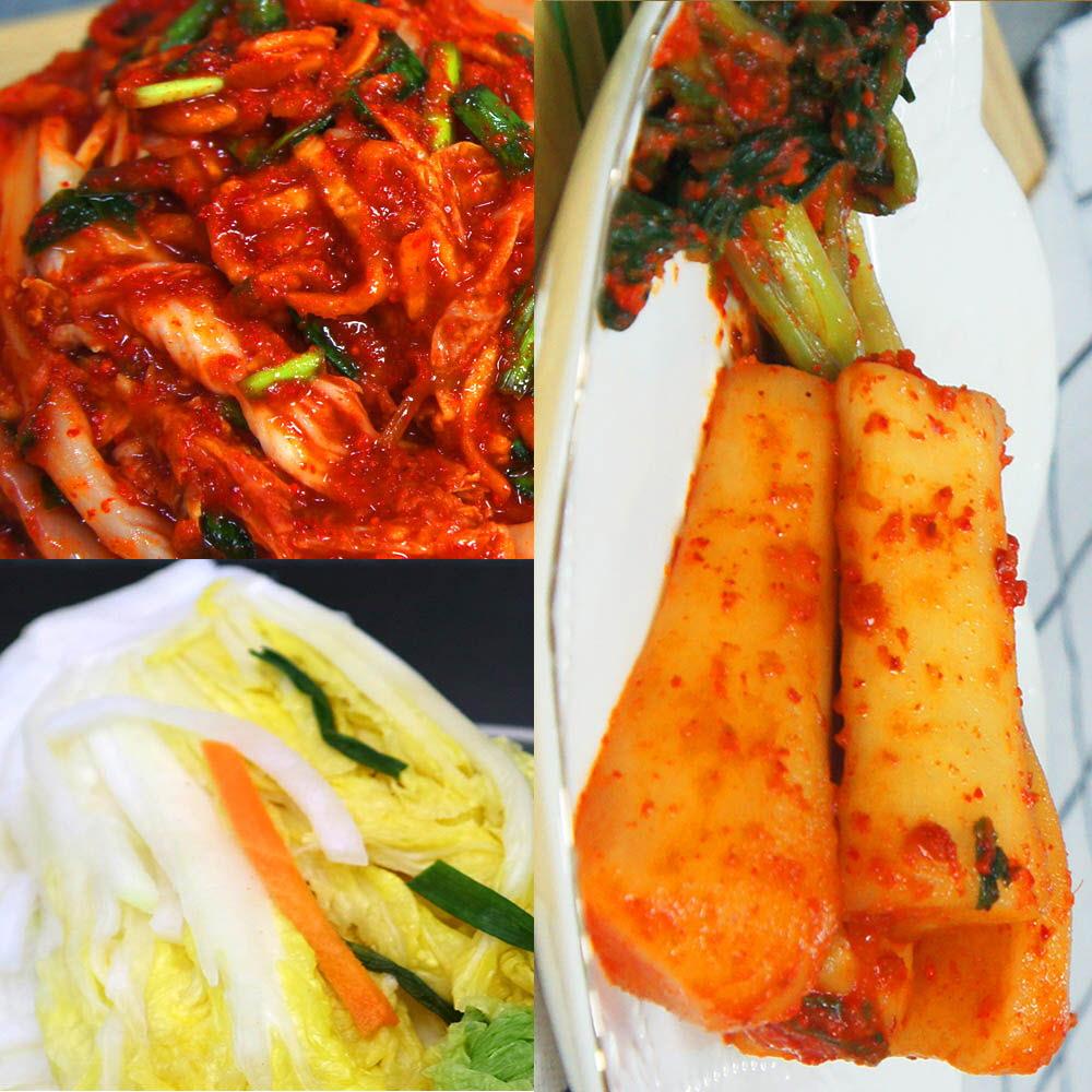 예본 찐 배추(백)김치 3kg + 총각김치 2kg / 택1