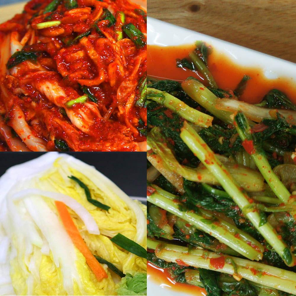 예본 찐 배추(백)김치 3kg + 열무김치 2kg / 택1