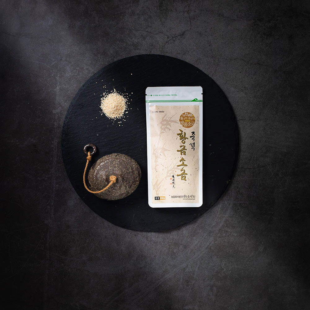 죽력원 죽력황금소금 지퍼백100g