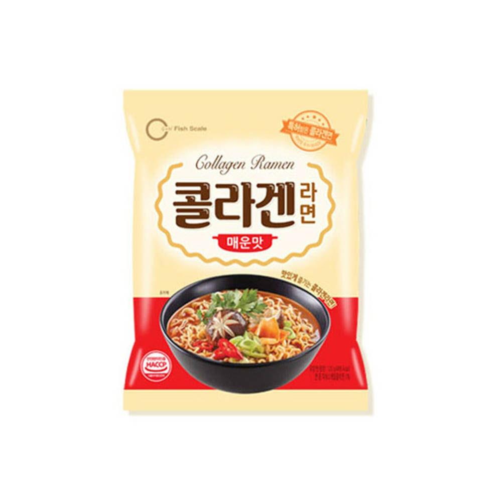 [오뚜기] 먹어도 붓지 않는 콜라겐 라면 (매운맛) 1팩(4봉)