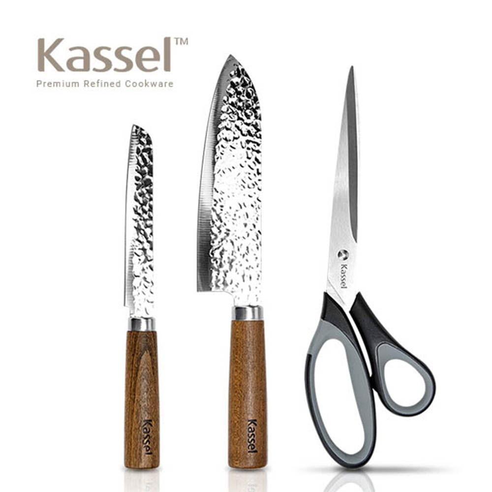카셀 우드 칼 가위 3종세트