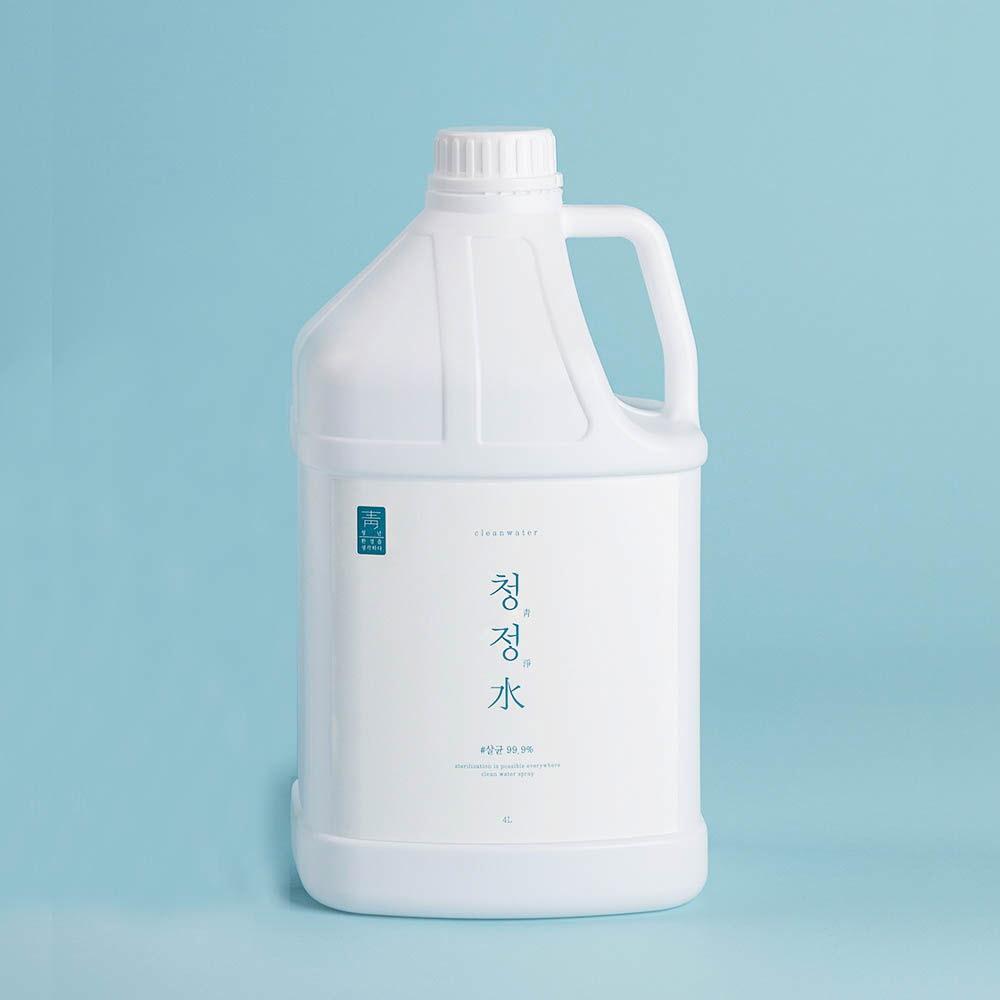청정수 뿌리는 소독제 4L 리필