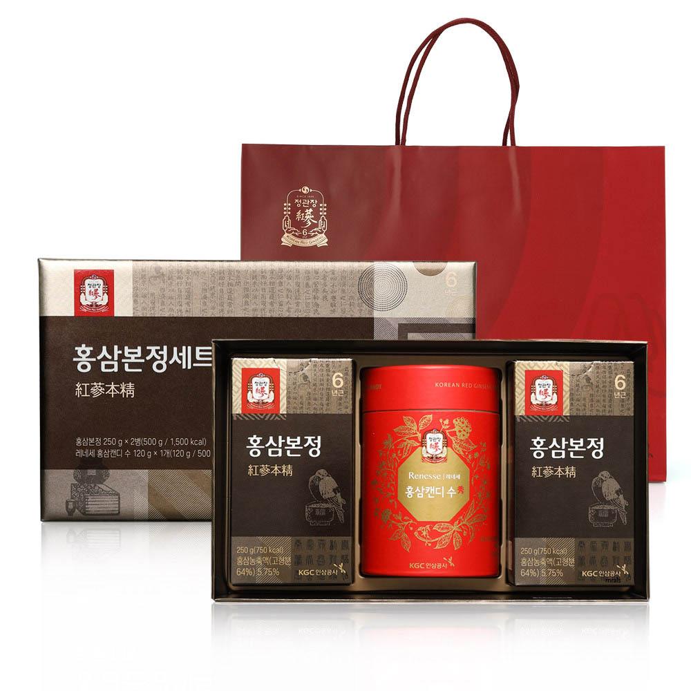 정관장 홍삼본정 250g x 2병 + 레네세 홍삼캔디 수 120g (쇼핑백포함)
