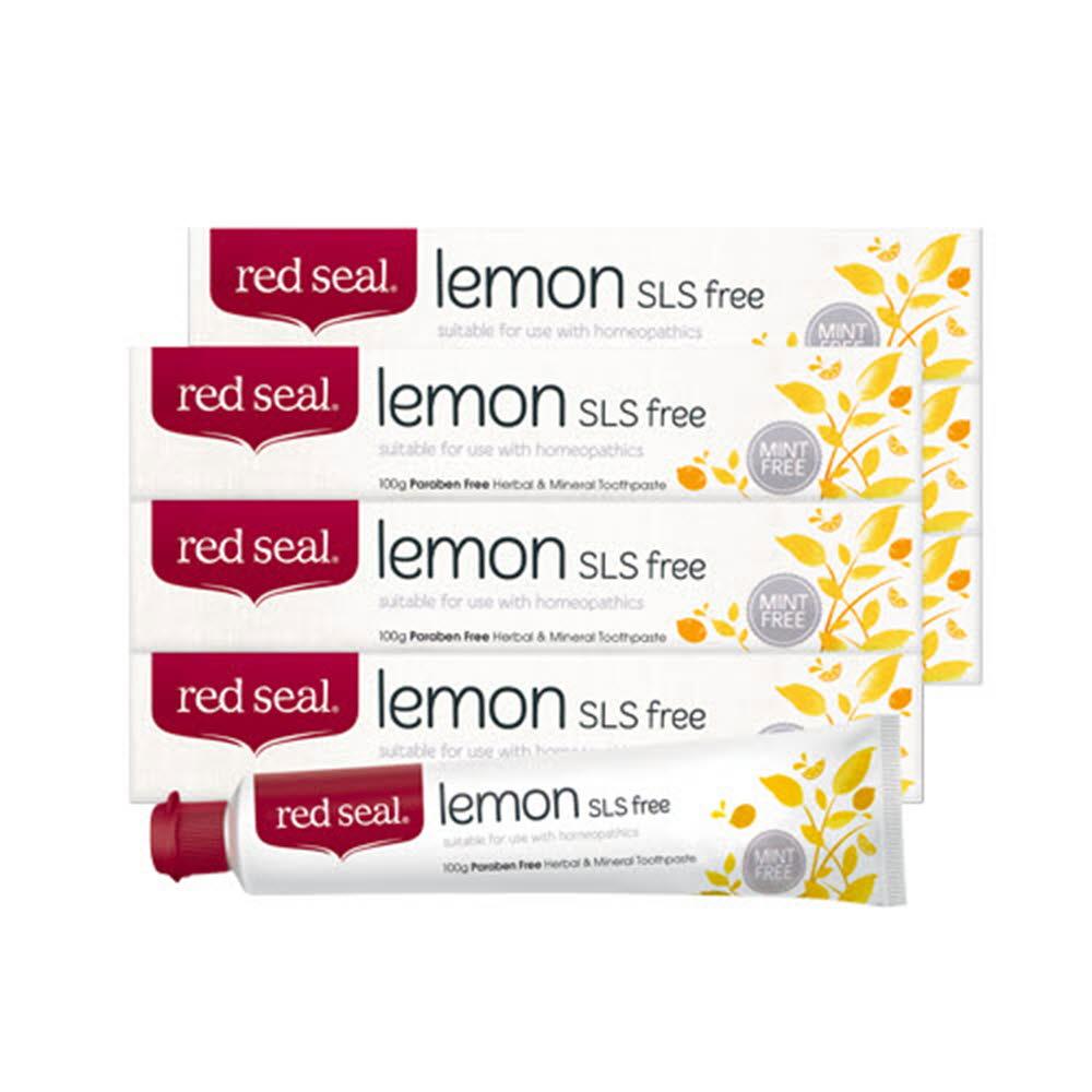 레드씰 레몬 SLS free 치약 100g*6개