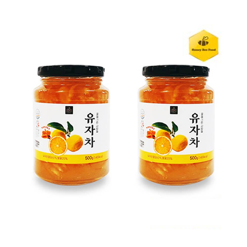 [허니비푸드] 꿀을 그린사람들 건강차 2종 C세트_유자차500g*2