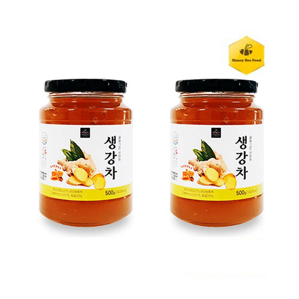 [허니비푸드] 꿀을 그린사람들 건강차 2종 D세트_생강차500g+생강차500g