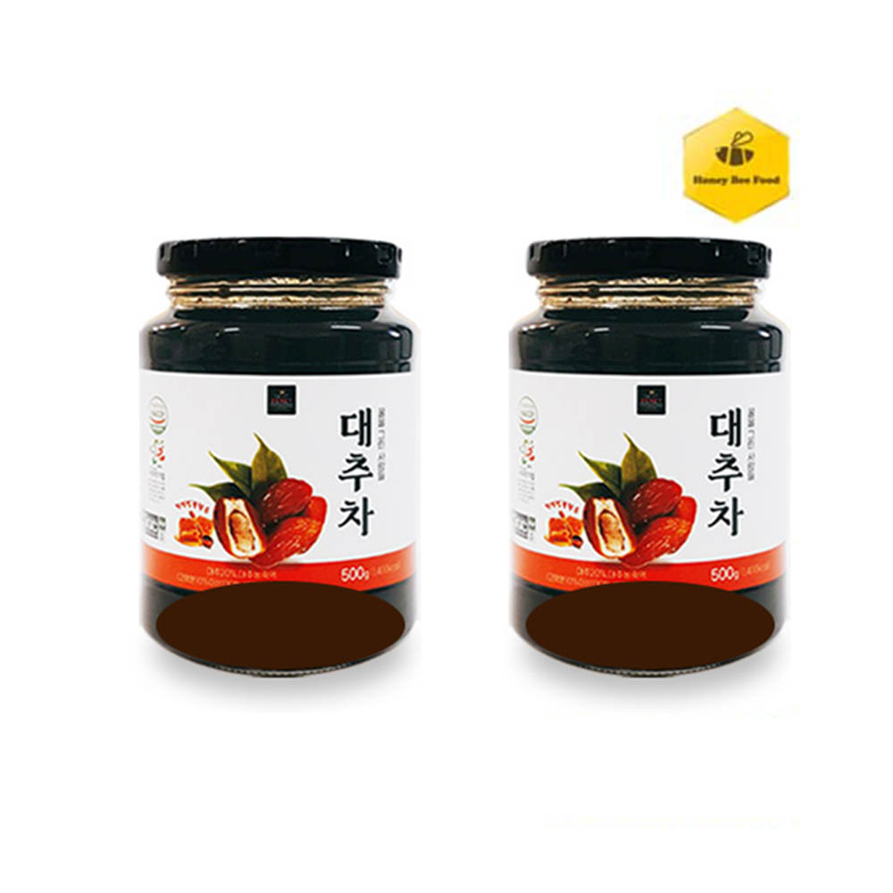 [허니비푸드] 꿀을 그린사람들 건강차 2종 F세트_대추차500g*2