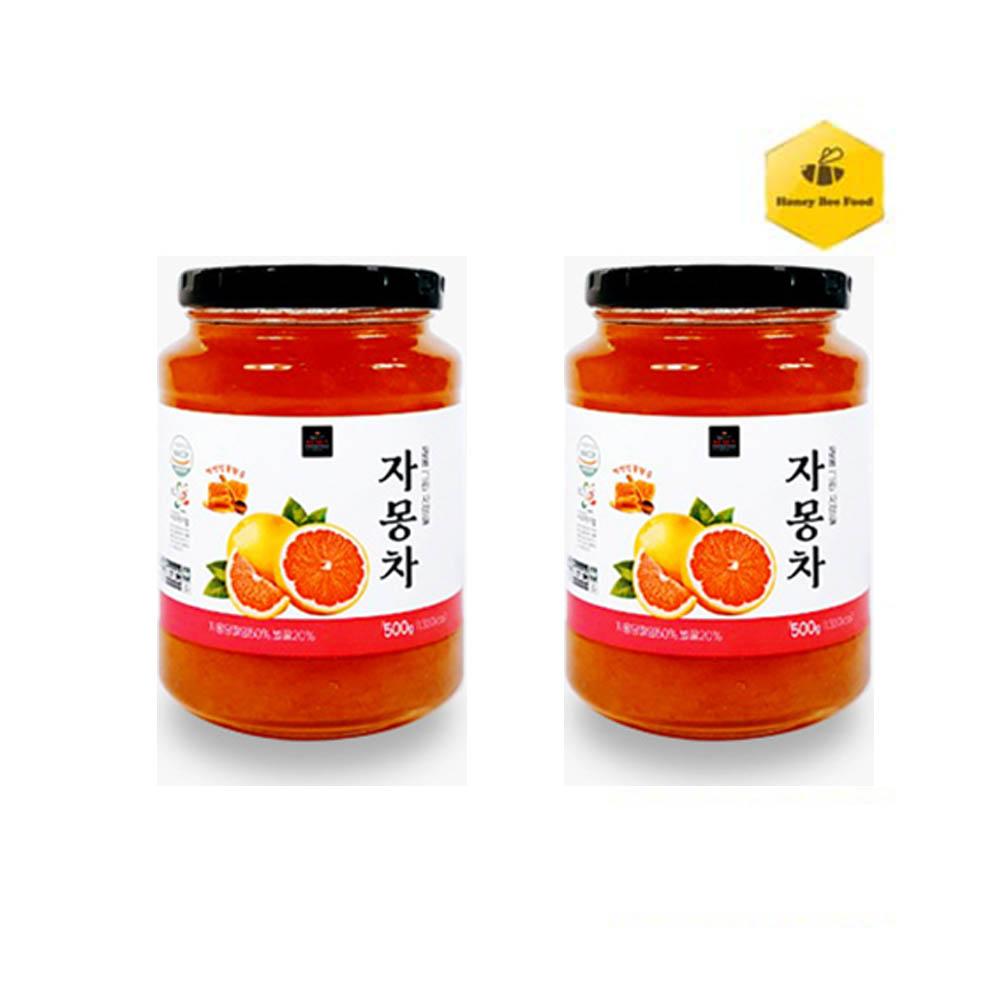 [허니비푸드] 꿀을 그린사람들 과일차 2종 D세트_자몽차500g*2