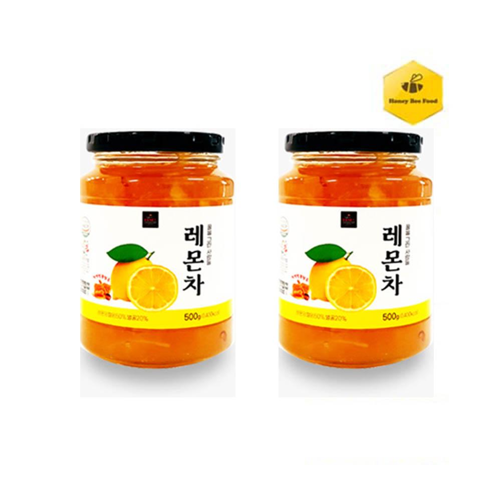 [허니비푸드] 꿀을 그린사람들 과일차 2종 F세트_레몬차500g+레몬차500g