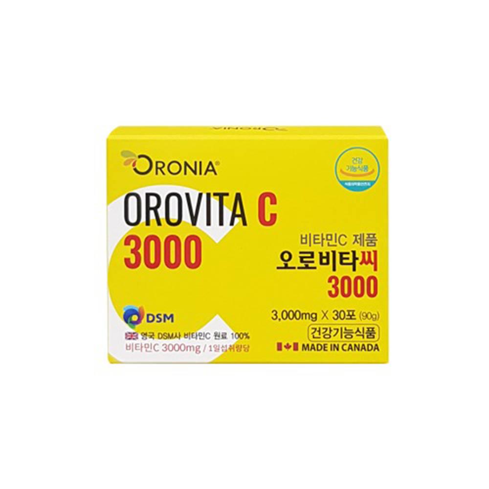 오로니아 오로비타C 3000 고함량 비타민C 분말 3,000mg x 30포