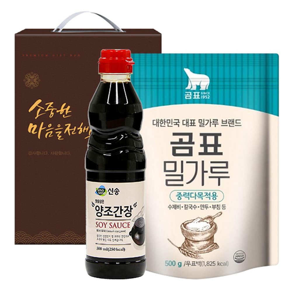 신송 양조간장 곰표밀가루(2종)