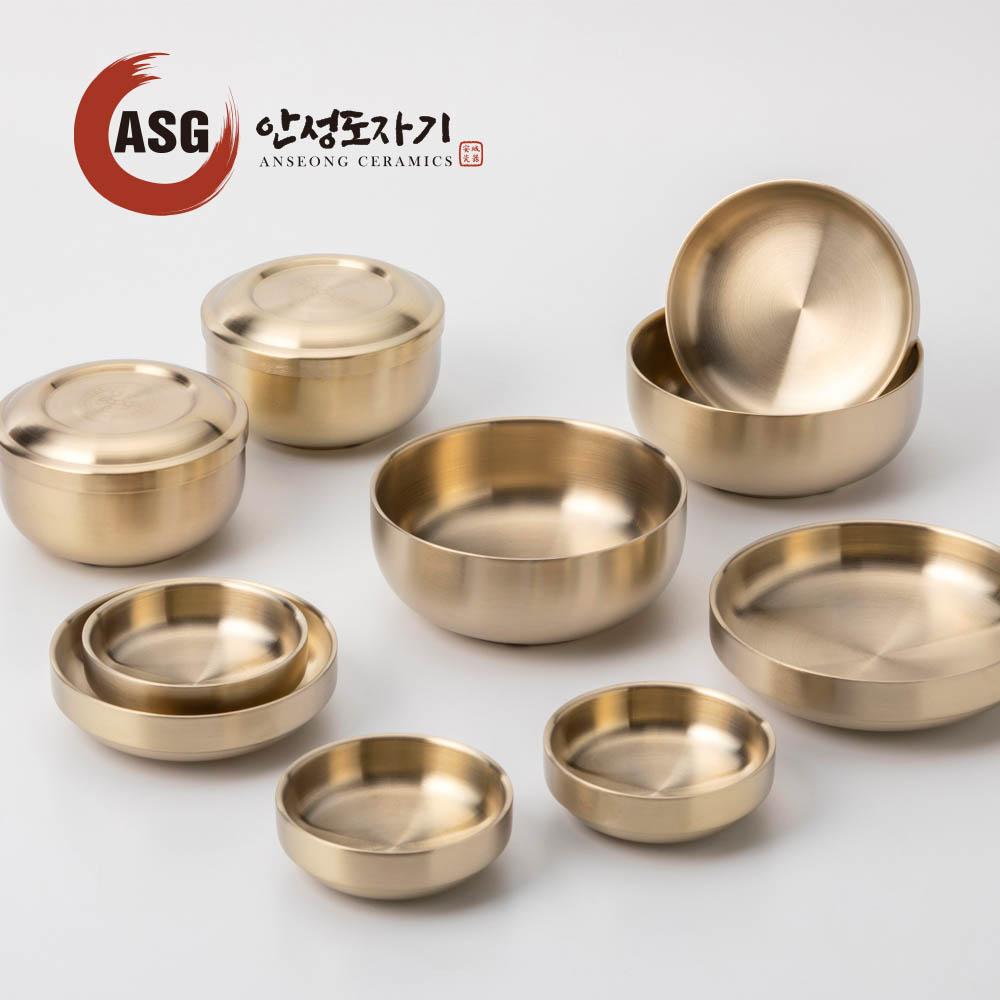 ASG 안성도자기 장수 티타늄 2인 반상기 세트2호 12pcs