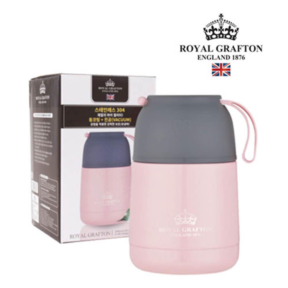 로얄그래프톤 보온/보냉 죽통 430(핑크) RG4006