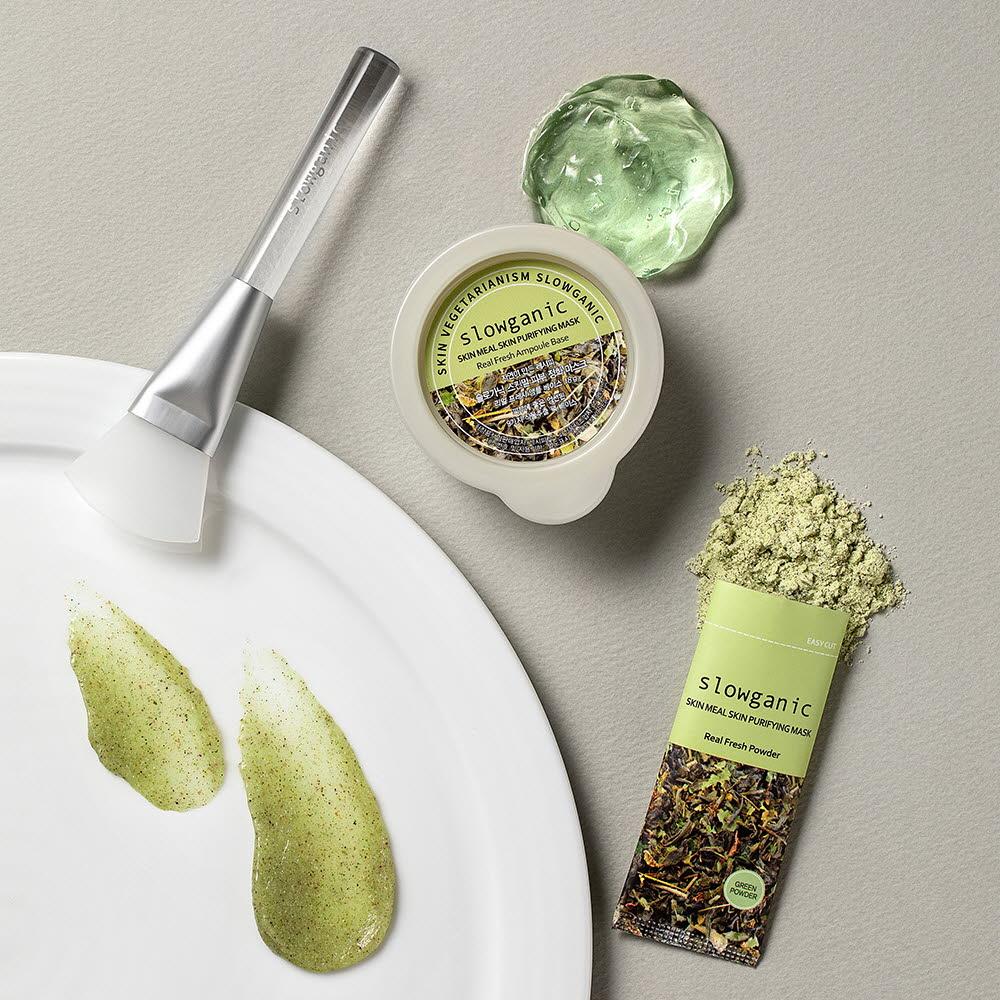 슬로가닉 생곡물팩 단품 1OPP(파우더1EA+젤1EA)