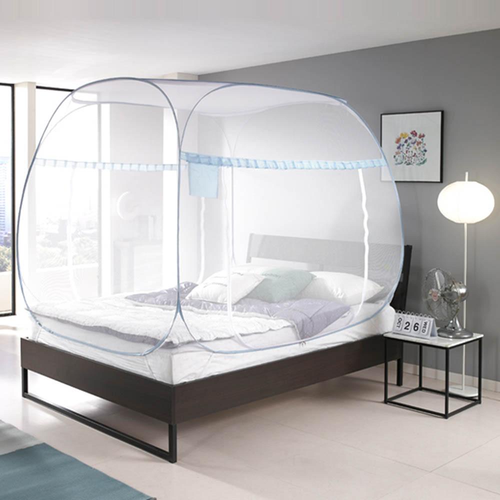 [모빌리에] 침대 거실용 원터치 팝업 모기장(퀸,킹)