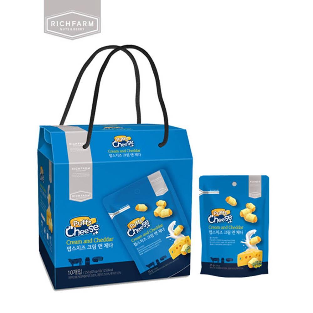 리치팜너트 펍스치즈 크림엔체다 10팩 백화점선물세트