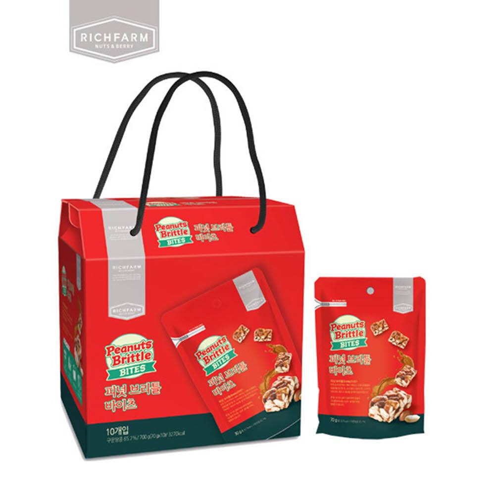 리치팜너트 피넛브리틀 바이츠 10팩 백화점선물세트