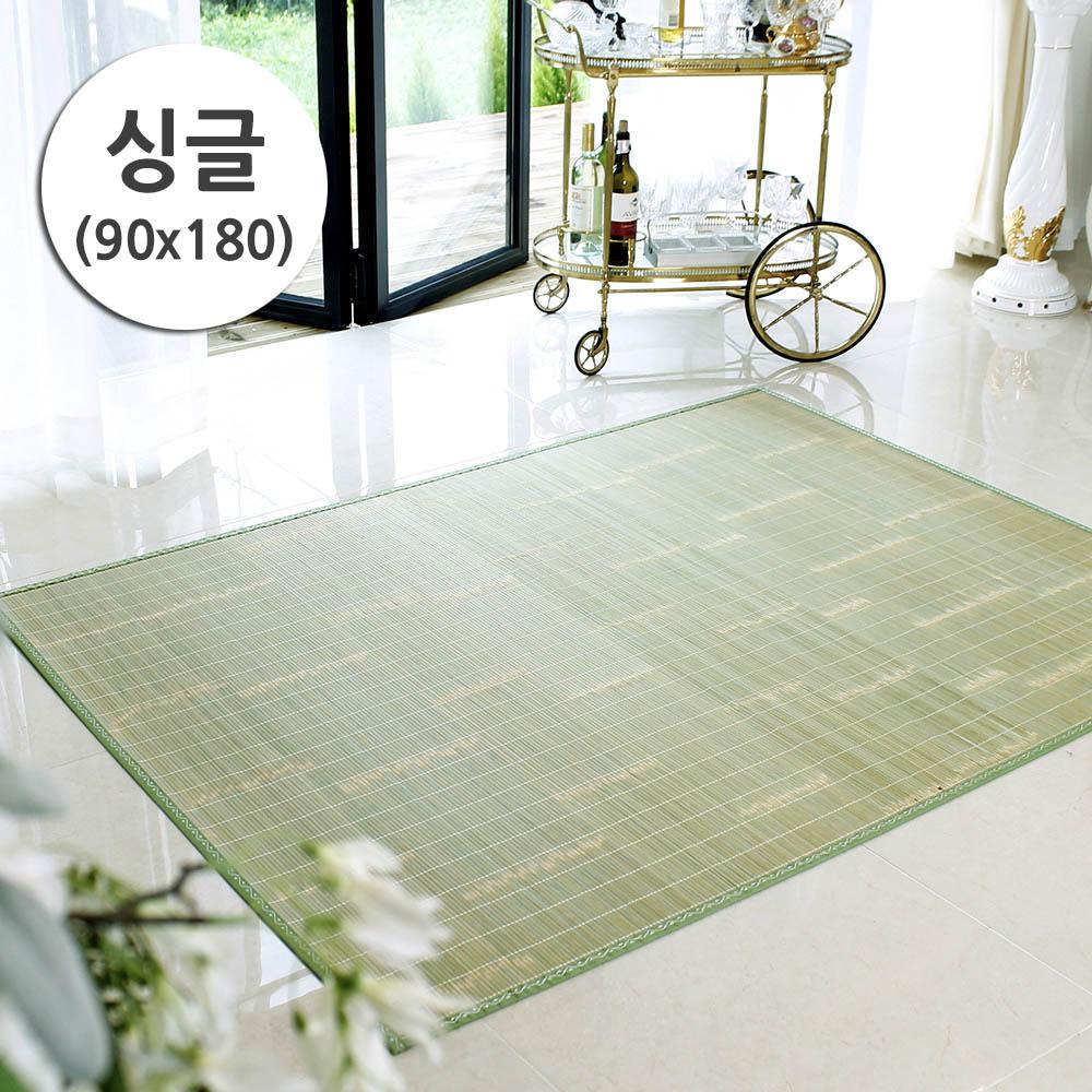 메시앙 그린팜 청죽 내추럴 겉대나무자리 싱글 (90x180)