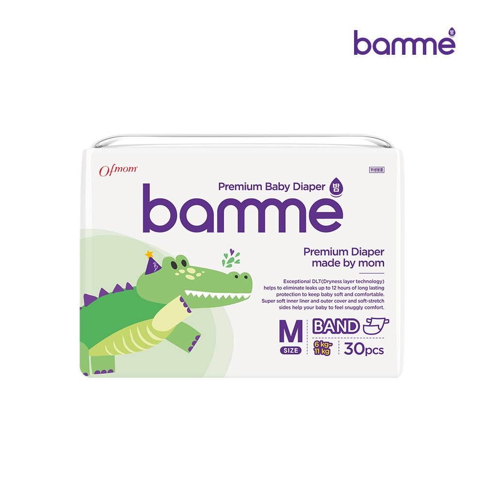 [bamme] 밤 기저귀 밴드형 3단계 중형(30매)?