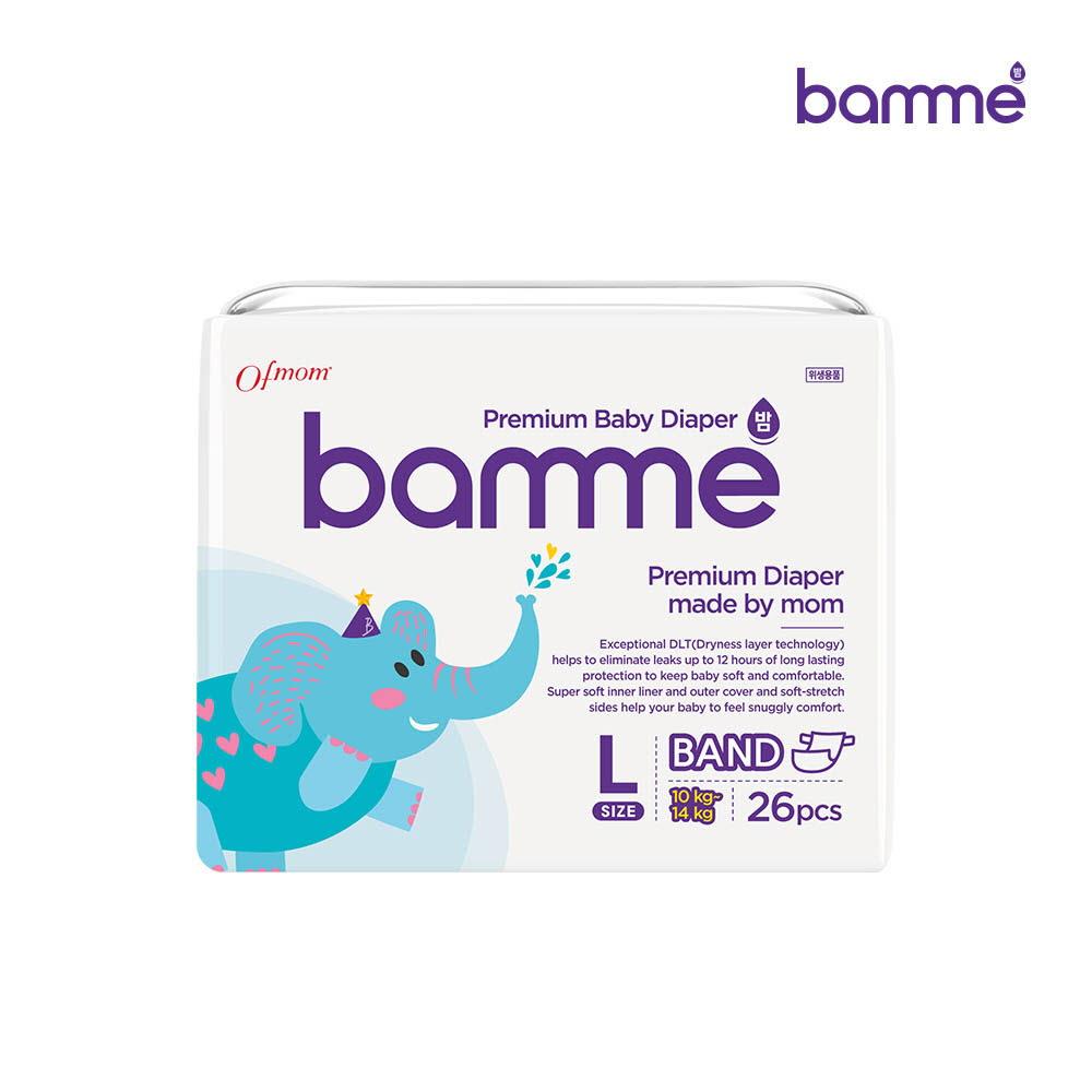 [bamme] 밤 기저귀 밴드형 4단계 대형(26매)