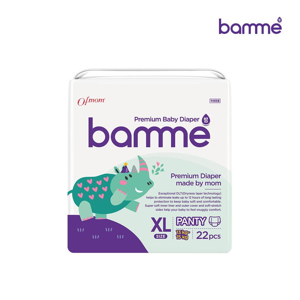 [bamme] 밤 기저귀 팬티형 5단계 특대형(22매)