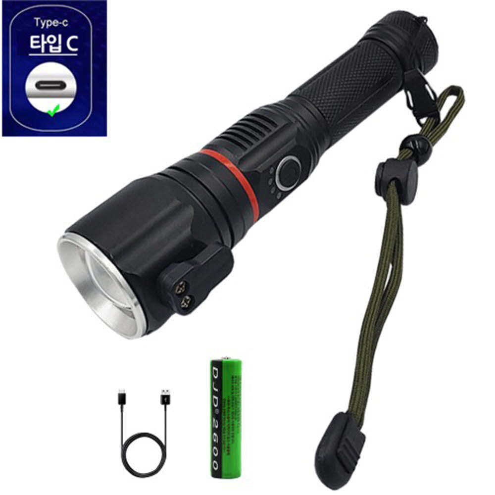 LED COB 캠핑 랜턴 해머 LED 충전식 손전등 후레쉬 XHP50.2 D55 아X