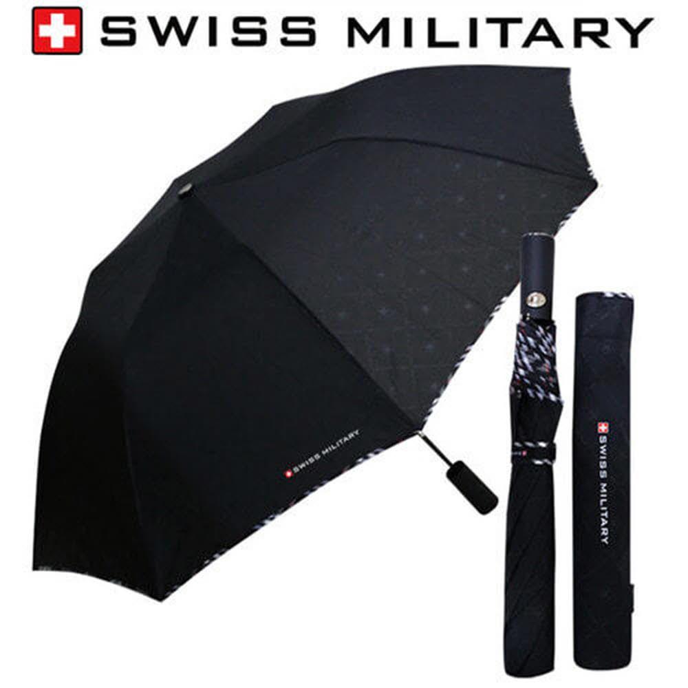 스위스밀리터리 2단자동 엠보선염바이어스 우산