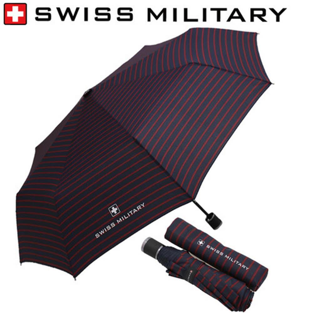 스위스밀리터리 3단수동 레드스트라이프 우산