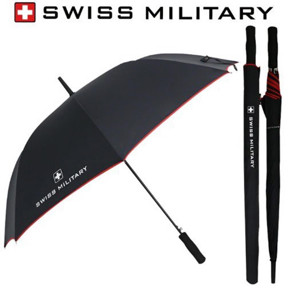 스위스밀리터리 70자동 레드바이어스 장우산
