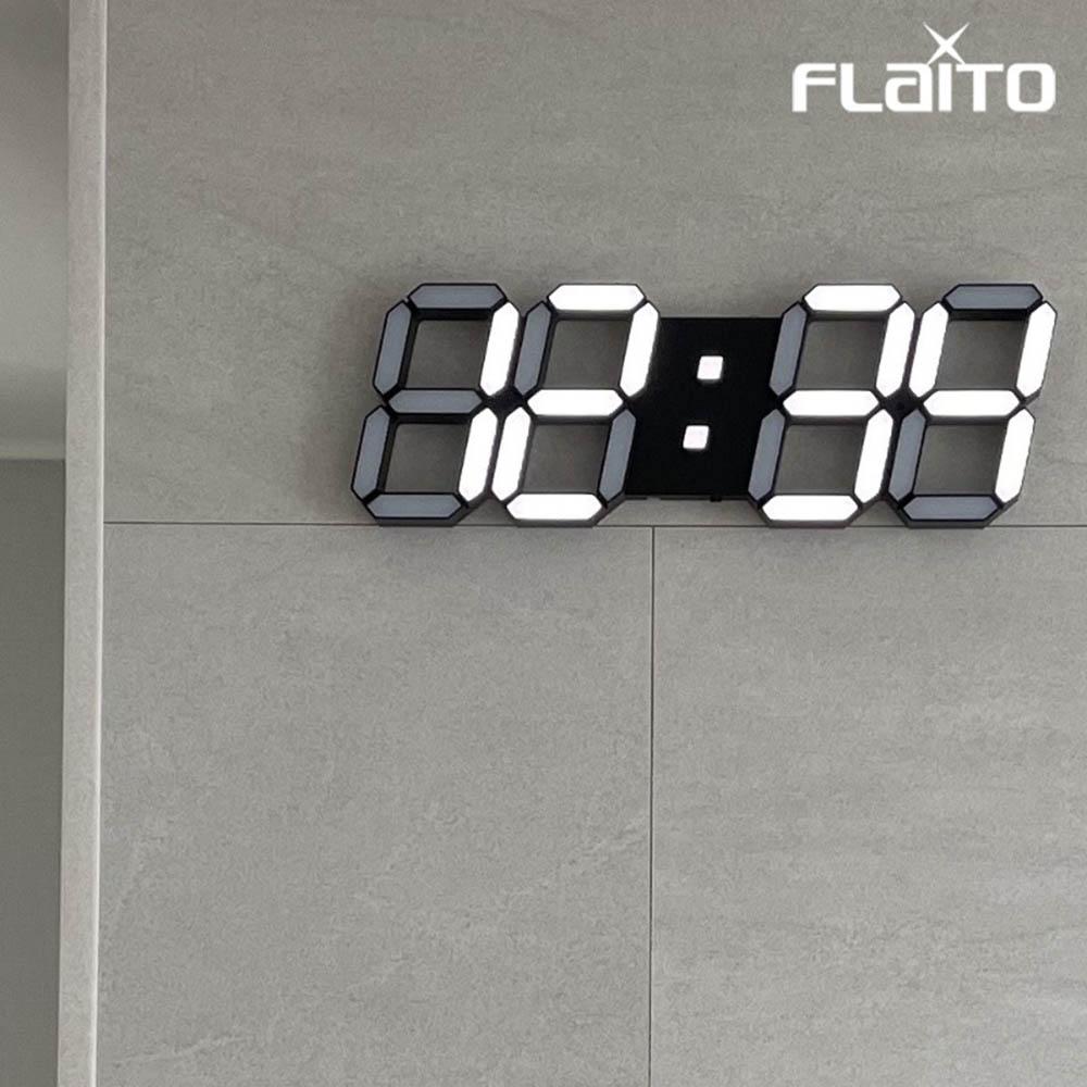 국산 플라이토 3D LED 인테리어 벽시계 삼성전구 38cm