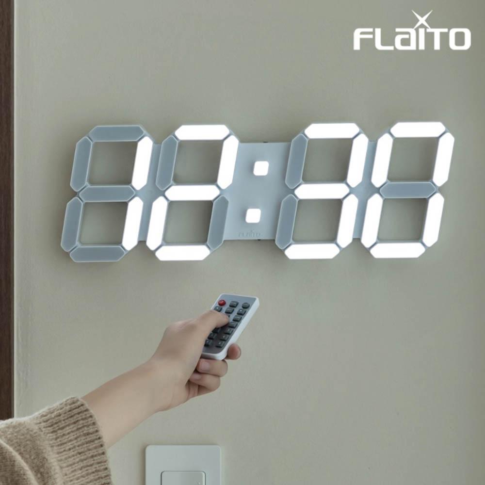 플라이토 3D LED 인테리어 벽시계 시즌3 LG전구 38cm