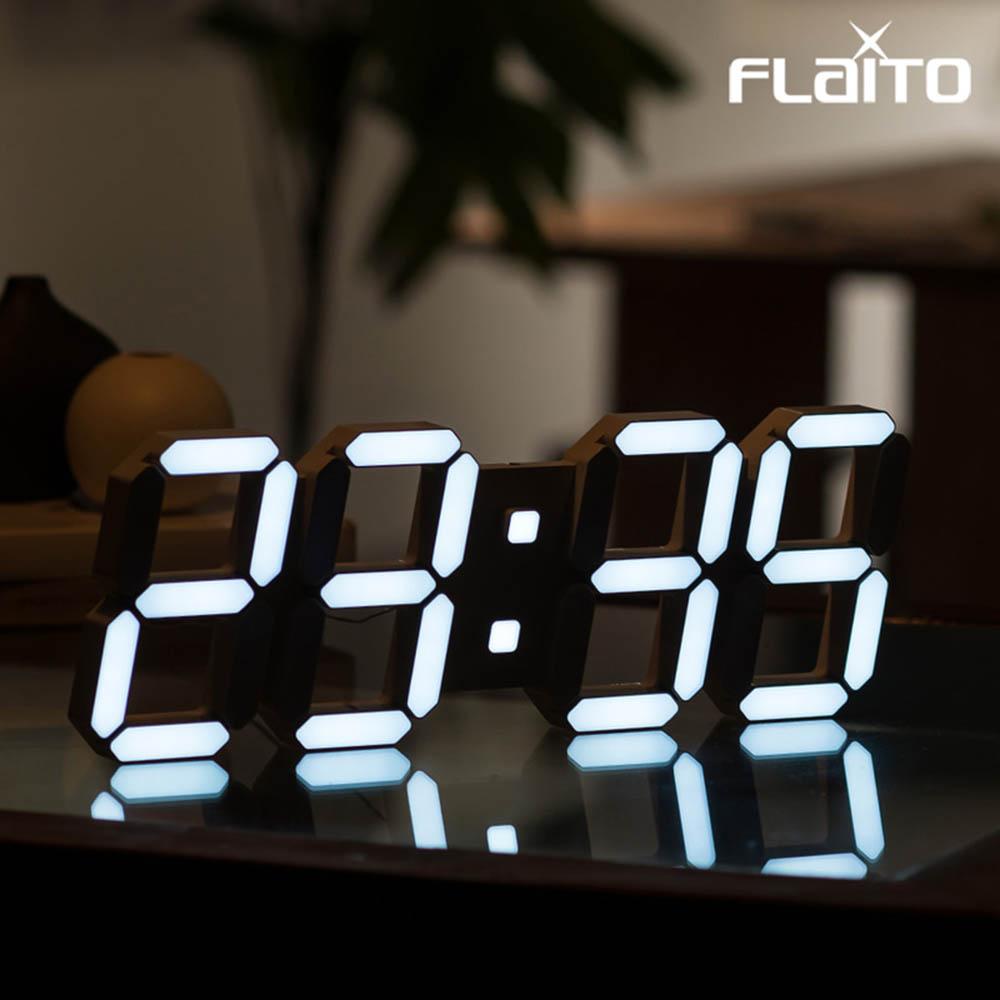 플라이토 3D LED 인테리어 벽시계 시즌5 퓨어 LG전구 38cm