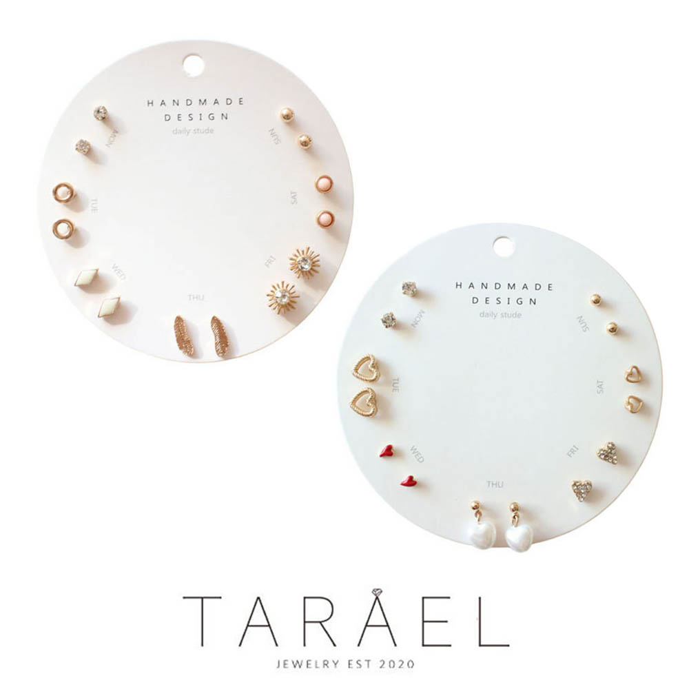 [9월할인행사]타라엘 데일리 심픙 일주일 명품 귀걸이 1+1(A타입+B타입)