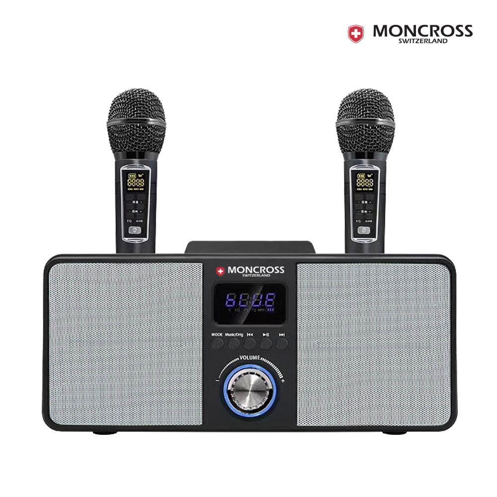 몽크로스 듀얼 무선 마이크 노래방 블루투스 스피커 세트 MSDM-K3000