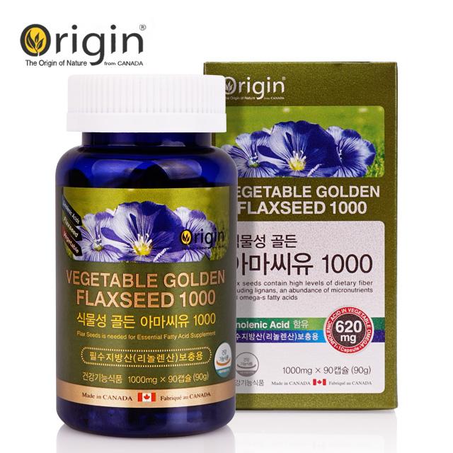 오리진 식물성 골든아마씨유 1000 1000mgx90캡슐