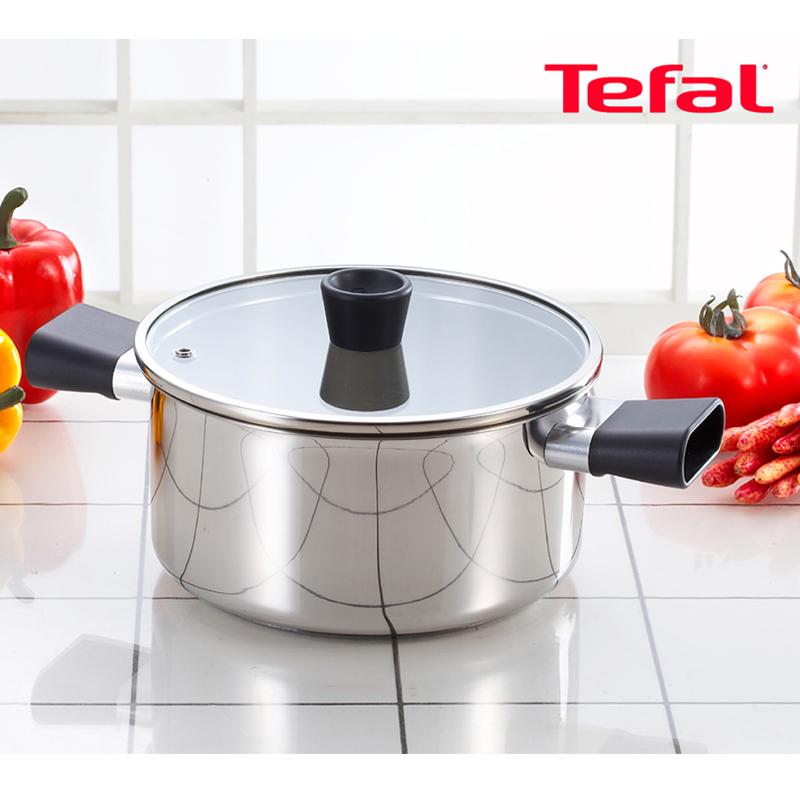 [Tefal] 테팔 스테인리스 이지그립 양수냄비24cm