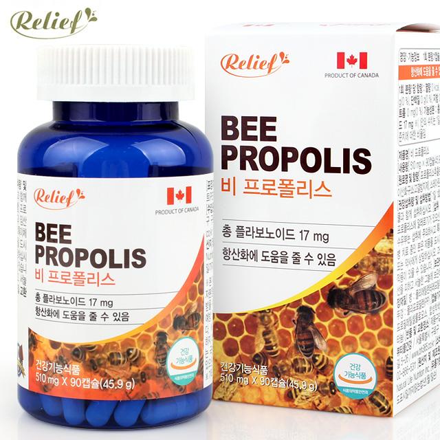 [릴리프] Bee 프로폴리스 510mgx90캡슐