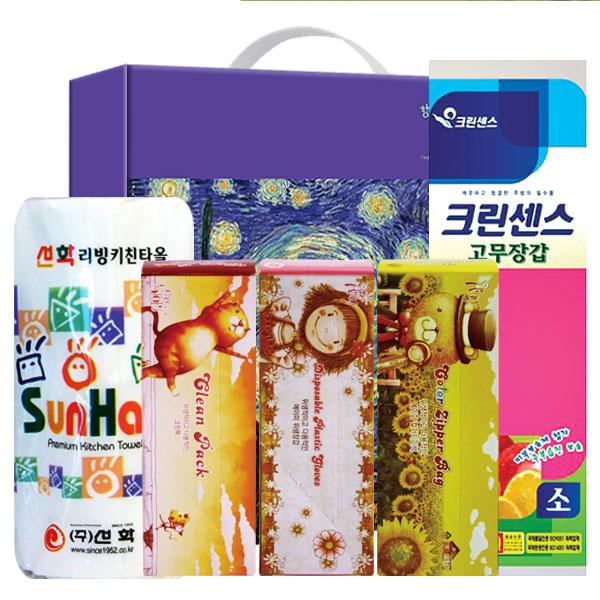 키친타올 크린백3종 비닐고무장갑32m(5종)