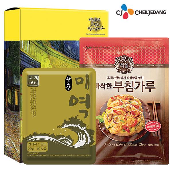 백설 부침가루 미역10인분(2종)